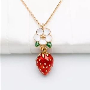 New Kate Spade gold Strawberry Necklace